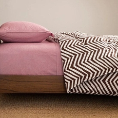 CIMINO HOME Heather Chevron Queen Duvet Cover