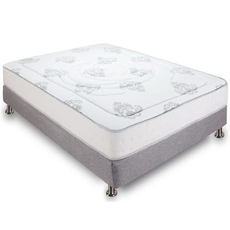 Cal King Classic Brands Bed in a Box Decker 10.5 Inch Firm Hybrid Memory Foam and Innerspring Mattress