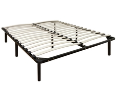 Classic Brands Europa Wood Slat and Metal Bed Frame