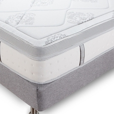Queen Classic Brands Bed in a Box Gramercy 14 Inch Hybrid Cool Gel Memory Foam and Innerspring Mattress