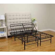 Classic Brands Hercules Adjustable 14-Inch Heavy Duty Metal Platform Style Bed Frame