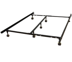 Classic Brands Hercules Universal Adjustable Metal Bed Frame with 7-Locking Rug Rollers