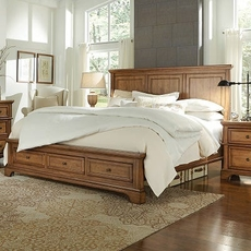 Clearance aspenhome Alder Creek Queen Storage Bed OVFN052005