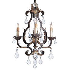 Clearance Currey & Company Small Tuscan Chandelier OVFB121714