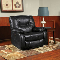 Clearance Parker Living Comfort Argus Power Recliner in Black OVFB121723