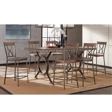 Clearance Hillsdale Furniture Paddock 7 Piece Counter Height Dining Set OVFCR0418091