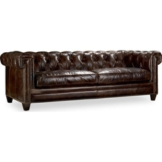 Clearance Hooker Furniture Chester Sofa in Imperial Regal Leather OVFN041801