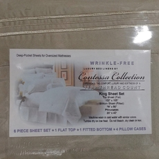Clearance Contessa Collection 1800 Thread Count 6 Piece Wrinkle-Free King Sheet Set in Sage OVLB0818109