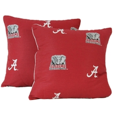 College Covers University of Alabama Decorative Pillow Set of 2