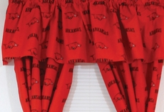 College Covers University of Arkansas Curtain Valance
