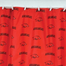 Arkansas Printed Shower Curtain by College Covers