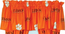 College Covers Clemson University Curtain Valance