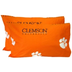 College Covers Clemson University King Pillowcase Pair