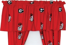 College Covers University of Georgia Curtain Valance