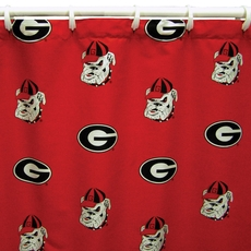 Georgia Printed Shower Curtain by College Covers