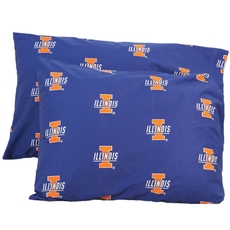 College Covers University of Illinois Pillowcase Pair