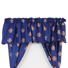 College Covers University of Illinois Printed Curtain Valance
