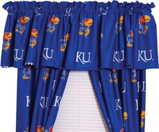 College Covers University of Kansas Curtain Panel 63 Inch