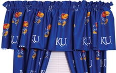 College Covers University of Kansas Curtain Valance