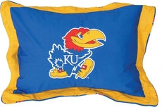 College Covers University of Kansas Quilted Sham