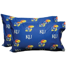 College Covers University of Kansas Pillowcase Pair