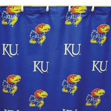 Kansas University Printed Shower Curtain by College Covers