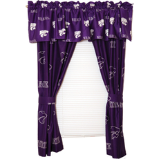 College Covers Kansas State University Curtain Panel 63 Inch