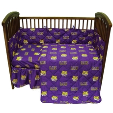 College Covers Louisiana State University Crib Set