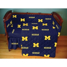 College Covers University of Michigan Crib Set