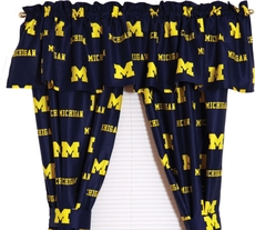 College Covers University of Michigan Curtain Panel 63 Inch
