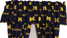 College Covers University of Michigan Curtain Valance