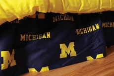 College Covers University of Michigan Bed Skirt