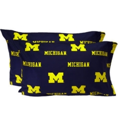 College Covers University of Michigan King Pillowcase Pair