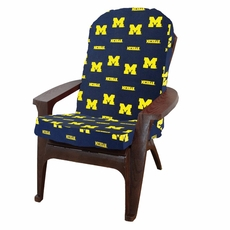 College Covers University of Michigan Adirondack Cushion
