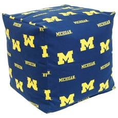 College Covers University of Michigan Cube Cushion