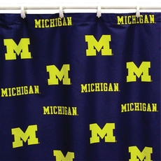 University of Michigan Printed Shower Curtain by College Covers