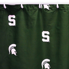 Michigan State Printed Shower Curtain by College Covers