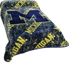 College Covers Michigan Throw Blanket
