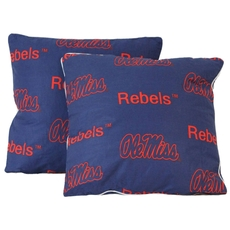 College Covers University of Mississippi Decorative Pillow Set of 2