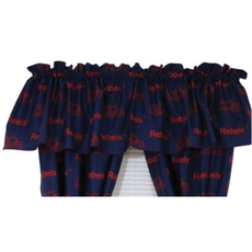 College Covers Ole Miss Rebels Printed Curtain Valance