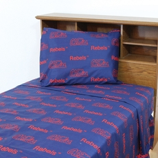 College Covers University of Mississippi Printed Sheet Set