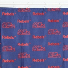 College Covers Ole Miss Rebels Printed Shower Curtain Cover