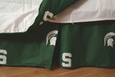 College Covers Michigan State University Bed Skirt