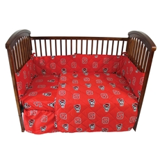 College Covers North Carolina State University Crib Set