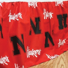 College Covers University of Nebraska Bed Skirt