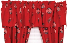 College Covers Ohio State University Curtain Valance