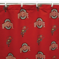 Ohio State Printed Shower Curtain by College Covers