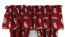College Covers University of Oklahoma Curtain Valance