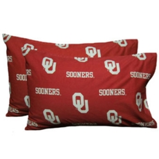 College Covers University of Oklahoma King Pillowcase Pair