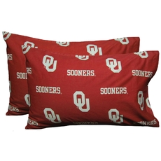 College Covers University of Oklahoma Pillowcase Pair